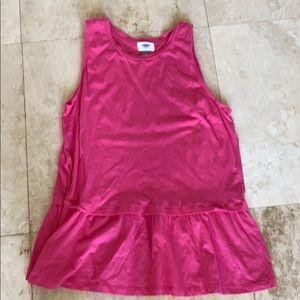 Old Navy Pink TShirt Sleeveless Dress